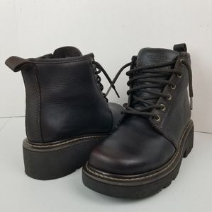 VTG American Eagle Leather Combat Boots Sz 8